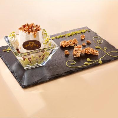 Semifreddo torroncino pistacchio croccante